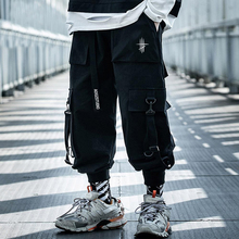 Joggers-Trousers Cargo-Pants Harajuku Japanese Streetwear Elastic-Waist Casual Summer