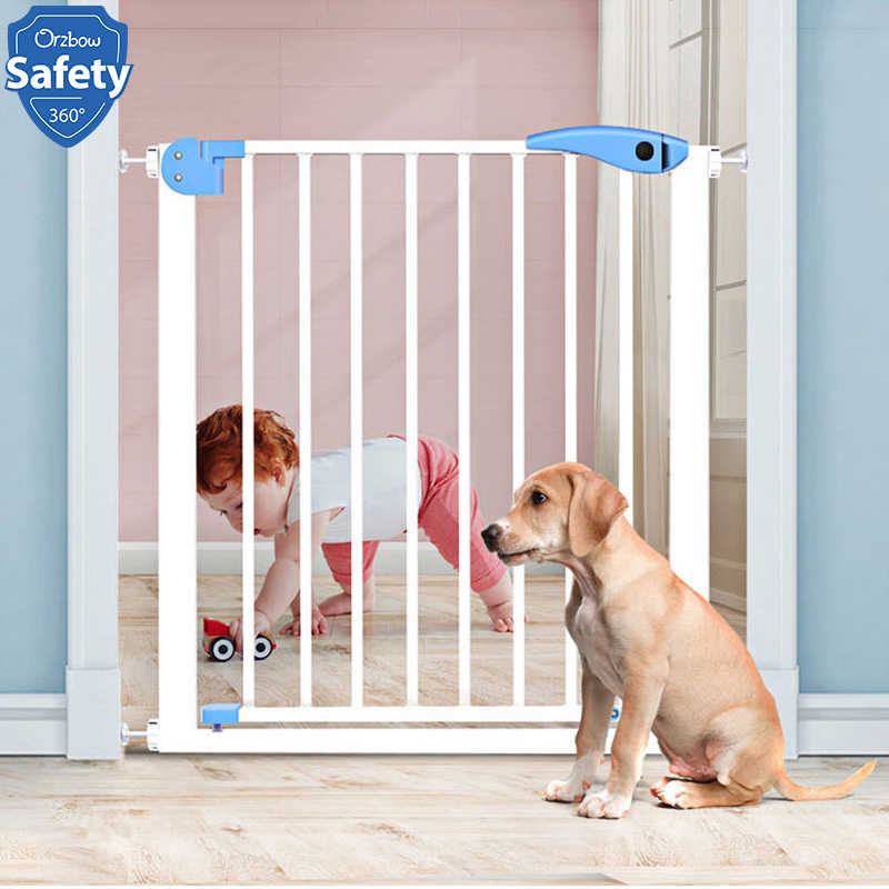 Folding Baby Gate Safety Fence Pet Cat Dog Door Wood Protection Child Barrier