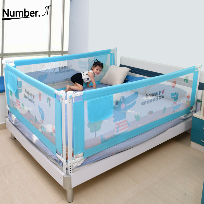 Baby Bed Fence Safety Gate Products Child Playpen Guardrail Barrier Bed Crib Rail Security Fencing Children Guardrail Safe Kids