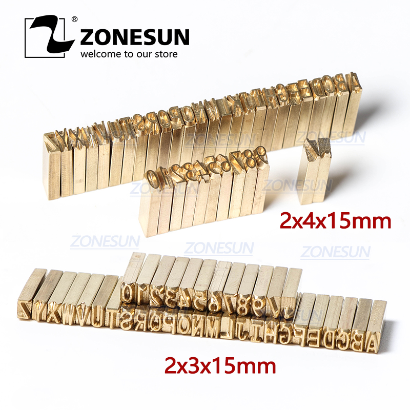 ZONESUN Hot Stamping Letters Thermal Ribbon Printing Alphabet Font For Expiration Coding Machine Date Code Printer
