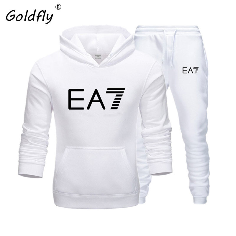 Goldfly Brand Sweatshirt Long-sleeve Hoodie Plain Color Printed Casual Sportswear Spring And Autumn New Men's Hoodies Suit
