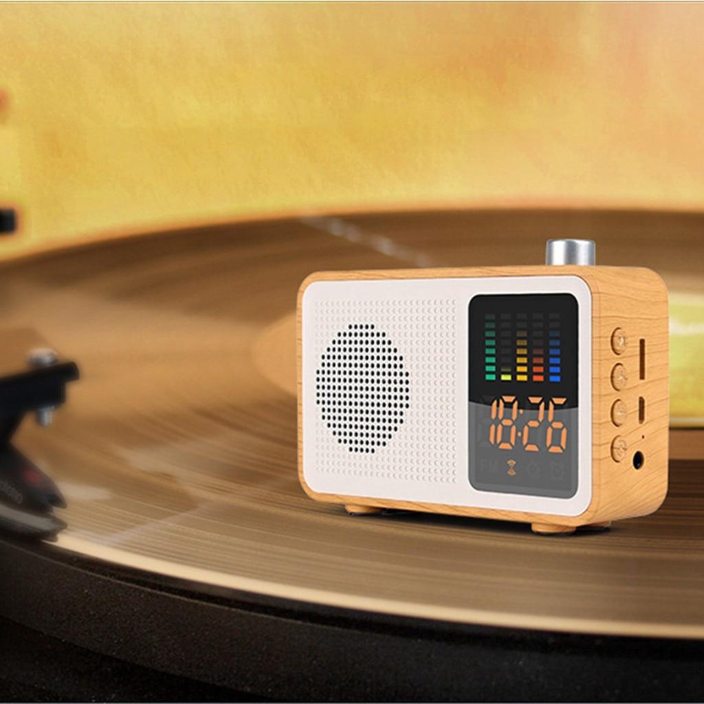 Portable Speakers MIABOO Retro Wood Color Wireless Bluetooth Speaker Radio With Time Display Caixa De Som Portable Speakers    - AliExpress