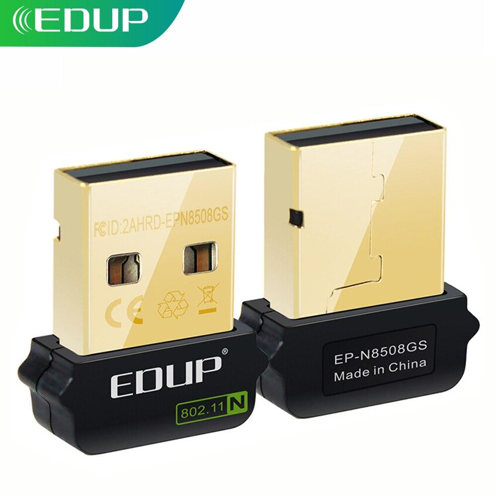 EDUP 150Mbps Mini USB WiFi Netzwerk Adapter USB Ethernet Karte Drahtlose Empfänger Fahrer Kostenloser für Raspberry pi Gebaut-in Antenne
