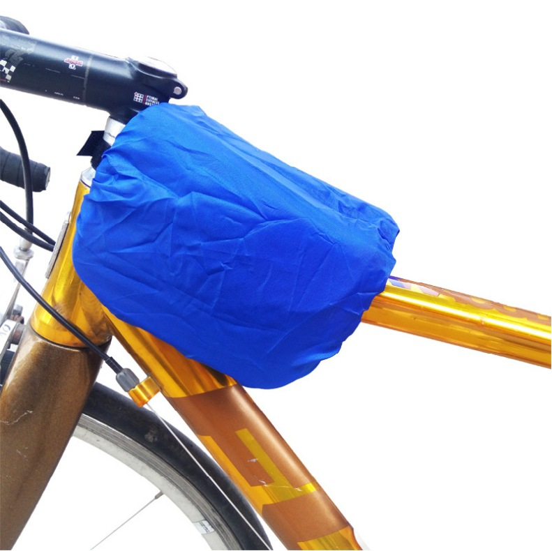 Outdoor Sports Equipment Bicycle Rain Cover On Tube Double Bicycle Front Bag Small Rain Cover Riding Accessories