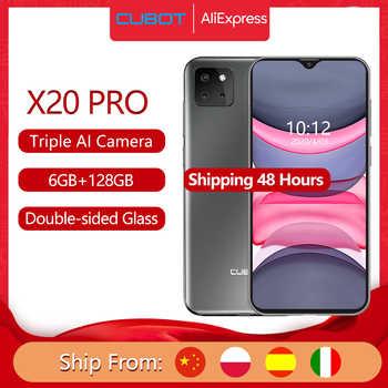"Cubot X20 Pro 6GB + 128GB  Smartphone 6.3 ""FHD + 2340 * 1080 Waterdrop ekran Android 9.0 AI modu üçlü kamera yüz kimliği Cellura Helio P60 4000mAh"