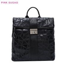 Розовый Sugao рюкзак кожа женщины маленький кошелек заказать сумка для путешествий сумки для девочек высокое качество ноутбука