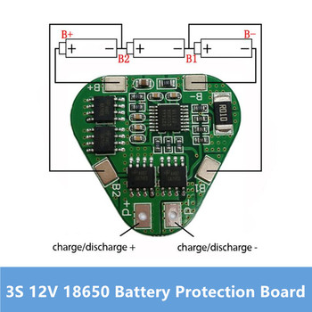 3S 12V 18650 Lithium Battery Protection Board 11.1V 12.6V overcharge over-discharge protect 8A 3 Cell Pack Li-ion BMS PCM PCB 1set lot 18650 lithium battery universal dual mos protection board 4 2v anti overcharged over discharge