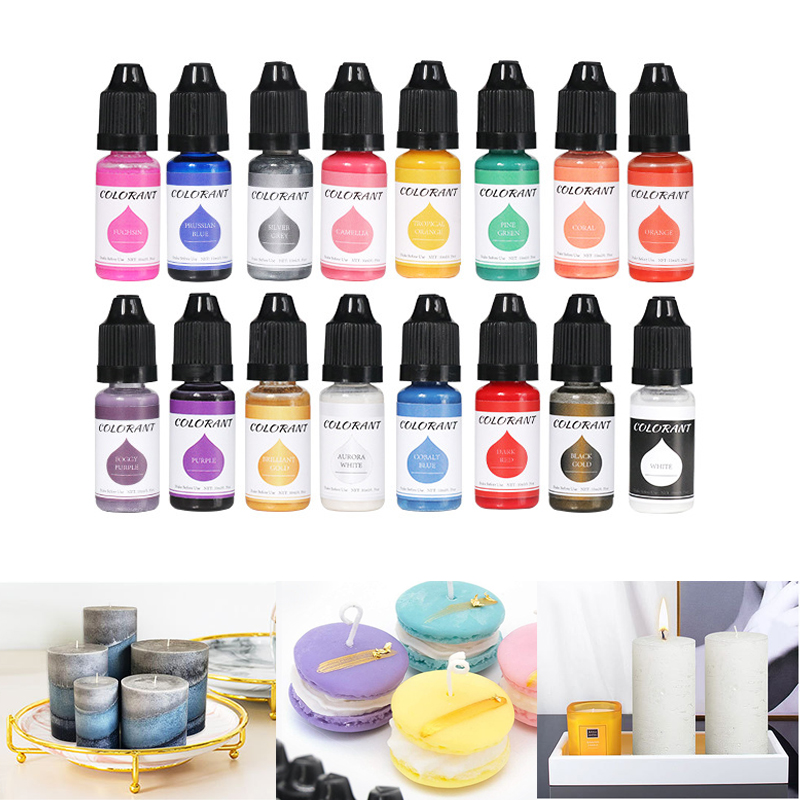 10ml 24 Color Epoxy Resin Pigments Liquid Colorant DIY UV Resin Mold Candle Soap Coloring DIY Handmade Crafts Dye Pigments