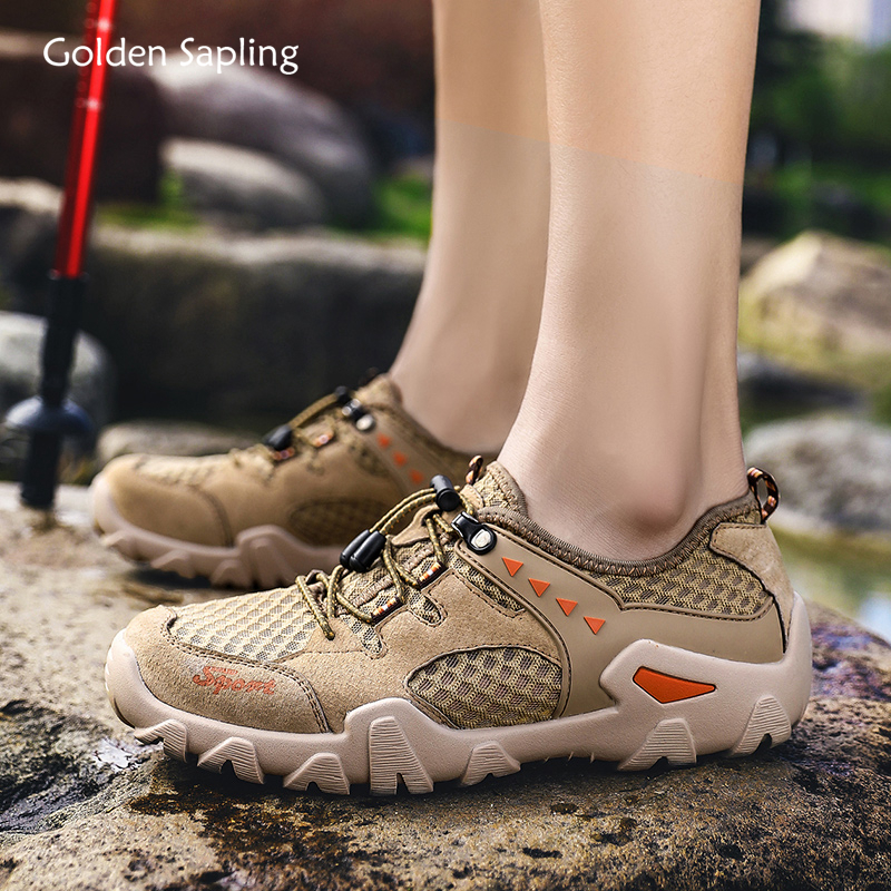 Golden Sapling Breathable Lightweight Men Hiking Shoes Large Plus Size Outdoor Mountain Tactical Shoes New Water Men's Sneakers|Hiking Shoes| |  - title=