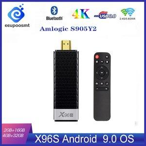 Image 1 - ТВ приставка X96S, 4 Гб, 32 ГБ, Amlogic S905Y2, Android 9,0, мини ПК X96S, Wi Fi, Bluetooth 4,2, 4K, HD 1080P, ТВ флешка, медиаплеер