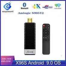 X96S TV 스틱 4 기가 바이트 32 기가 바이트 Amlogic S905Y2 안드로이드 9.0 TV 박스 X96S 미니 PC 5G 와이파이 블루투스 4.2 4K HD 1080P TV 동글 미디어 플레이어