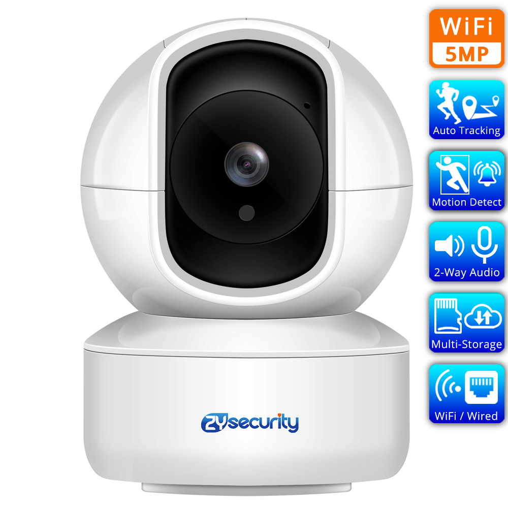 5MP Home Security IP Camera Auto Tracking Humanoid Detect Audible Alarm Wireless Speed Dome PTZ Video Surveillance Mini Camera