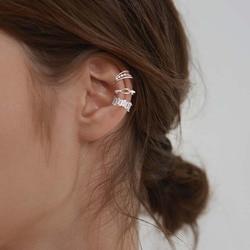 LISM 3pcs/set 925 Sterling Silver Ear Cuff For Women Without Piercing Earrings Set Earcuff Real Silver Fashion Jewelry Ear Clips
