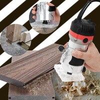35000rpm EU 플러그 목공 전기 트리머 나무 밀링 조각 Slotting 트리밍 기계 손 조각 기계 나무 라우터