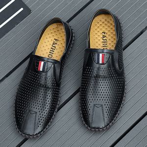 Image 4 - Valstone Hot sale Mens Summer Mocassins 2020 Leather loafers Slip on soft casual shoes comfortable drive flats White breathable
