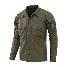 Камуфляжная тактическая рубашка Мужская Уличная походная рыболовная полевая боевая рубашка новая Мужская дышащая износостойкая спортивная одежда