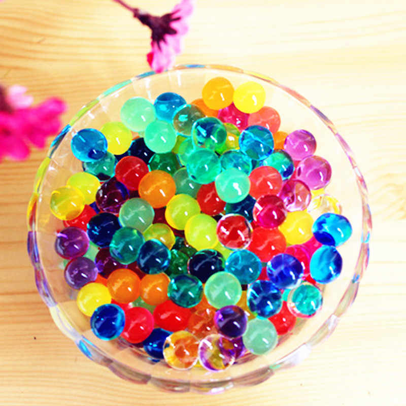 100pcs Parel Vorm Soft Crystal Bodem Water Kralen Mud Grow Magic Jelly Ballen Bruiloft Thuis Ornament Plant Cultiveren Decoratie E