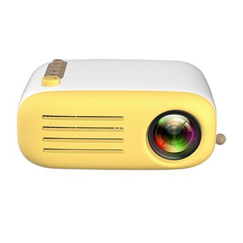 YG200 Yellow & White Portable LCD Projector 320x240 MAX 1080P With HDMI USB AV SD Input For Private Theater /Children Education