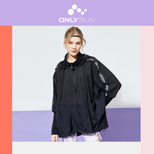 ONLY Women's Hooded with Drawstring Letter Print Sports Jacket   120136585