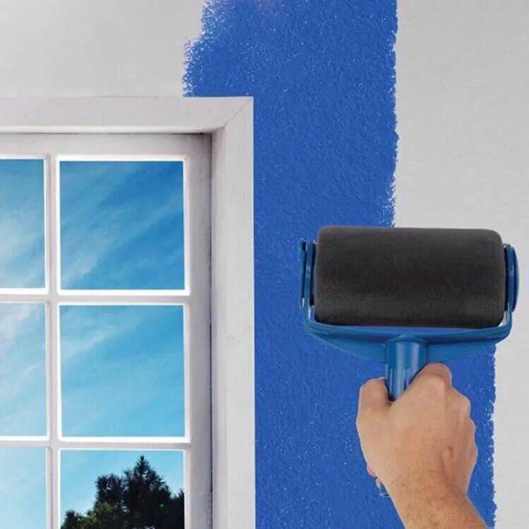 Juego de 5 uds. De pinceles profesionales decorativos para oficina, diseño de pintura para pared de habitación, camino de pintura, mango de pincel profesional