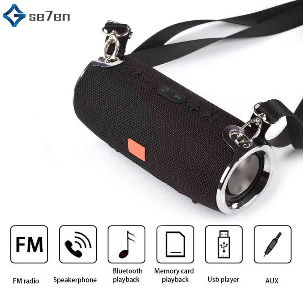 Nirkabel Bluetooth Speaker Tahan Air Mini Portable Speaker Mendukung TF Kartu Stereo Hi Fi Kotak