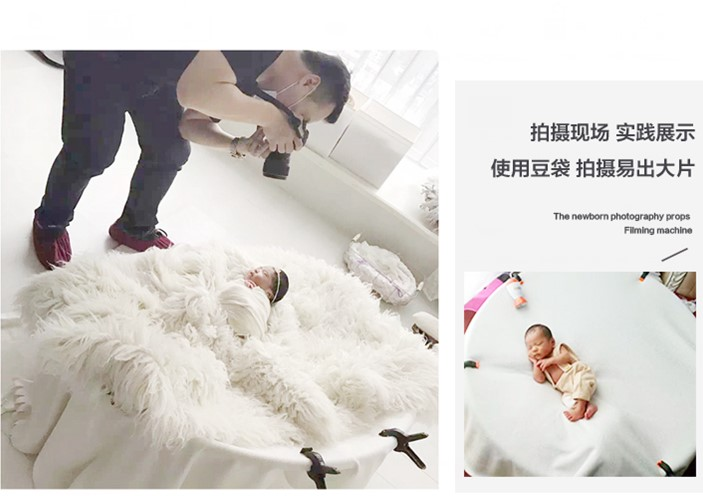 New Newborn Photography Stand Beanbag Props Still Life Taiwan Portable Detachable Round Frame Shooting Beanbag Background Frame