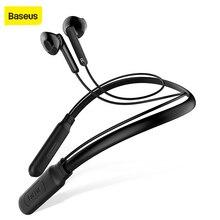 Baseus الرياضة بلوتوث سماعة للهاتف سماعة لاسلكية تعمل بالبلوتوث سماعة رأس مزودة بميكروفون إلغاء الضوضاء المغناطيسي سماعات لاسلكية