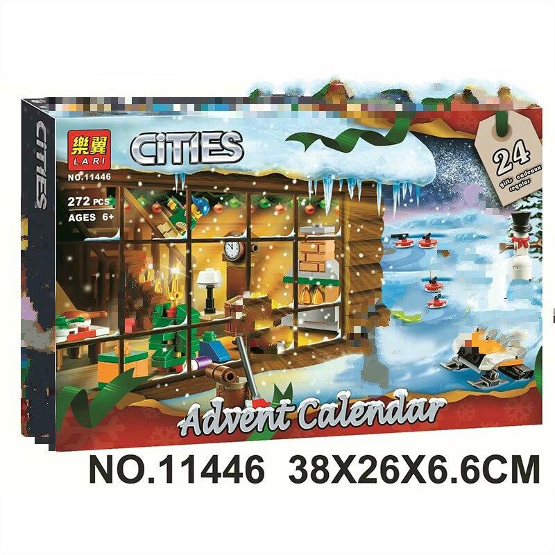 In Stock 2019 NEW Bela 11446 272pcs City Series Advent Calendar Building Blocks Bricks Kids Toys Christmas Gift 60235