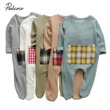 Детская одежда весна-осень хлопок Одежда для новорожденных одежда для малышей Одежда для мальчиков и девочек, закрывающие лодыжки, для малышей одежда с длинными рукавами, карманами и Детские комбинезоны одежда