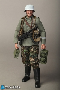 "Image 4 - DID D80131 1/6 WWII SS German Soldier Action Figure Empire Armored Division MG42 Machine Gunner B ""Egon"" Model Doll Collection"