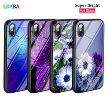 Black Cover Flower Leaf for iPhone X XR XS Max for iPhone 8 7 6 6S Plus 5S 5 SE Super Bright Glossy Phone Case цена и фото