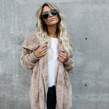Winter Faux Fur Coats And Jackets Women Fashion Hooded Solid