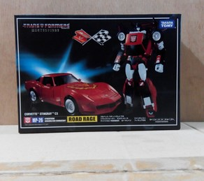 Takara Tomy Transformers Robots Tracks MP26 <font><b>Roadrage</b></font> Red Tracks Rage KO Deformation Action Figure Toy Collectible image