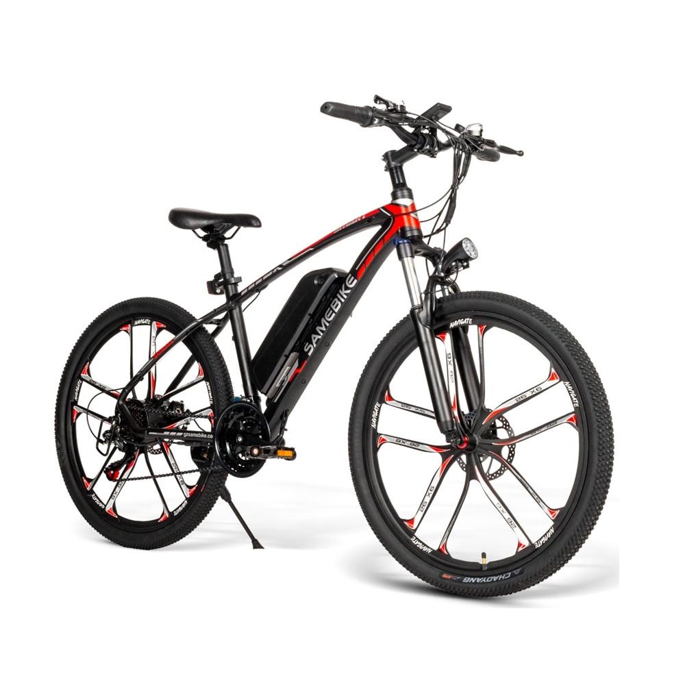 48V 30km vitesse VTT 26 pouces roue vélo électrique vélo 350W vélo électrique siège unique en alliage d'aluminium EBike