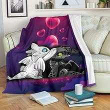 Toothless and light fury Fleece Blanket Plush 3d Printed for Adults Sofa Sherpa Fleece Bedspread Wrap Throw Blanket style-2 oyate graffix star fleece blanket plush 3d printed for adults sofa sherpa fleece bedspread wrap throw blanket
