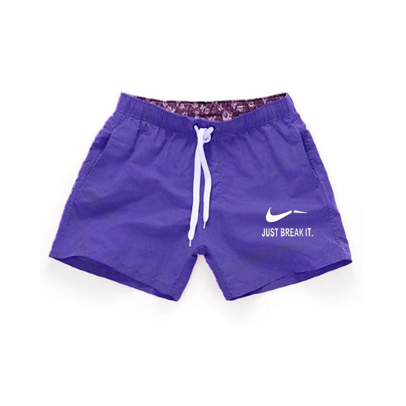 2019 летние мужские пляжные шорты, Брендовые повседневные шорты с принтом, мужские Модные Стильные шорты s Just Break It, пляжные шорты Бермуды