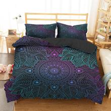 Bedding Clothes Home Textiles Dream Dreamy Color Mandala Printed Duvet Cover with Pillowcases for Adult King Single Size bedding clothes home textiles dream dark purple mandala printed duvet cover with pillowcases for adult queen double size