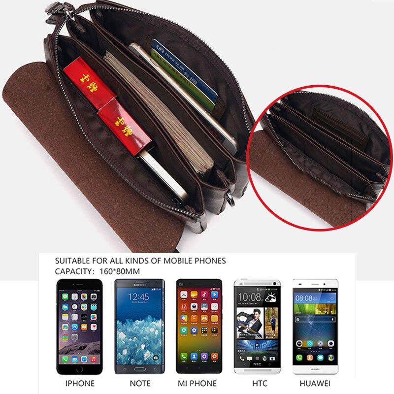 Genuine Leather Business Clutch Bag Men's Wallet for Phone Pouch Clutch Male Bags Casual Hand Bag Long Money Man Purse Bolsos Men Men's Bags Men's Wallets cb5feb1b7314637725a2e7: Brown|black