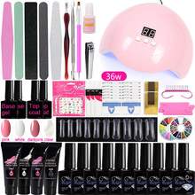 A5 Manicure Set with UV LED Lamp Dryer Quick Building Gel Clear Polygel