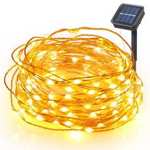 Christmas lights Luces Navidad Solar outdoor Led  Decoration 100LED 200LED String Lights