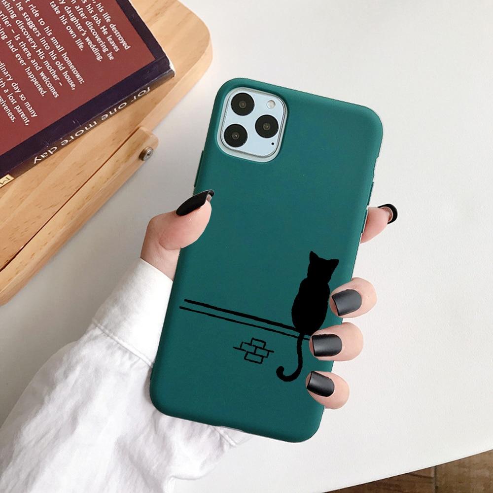 Cute Cartoon Soft TPU Christmas Phone Case For iPhone 12