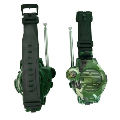 2pcs Walkie Talkies Watches Toys for Kids 7 in 1 Camouflage 2 Way Radios Mini Walky Talky Interphone Clock Children Toy Lahore