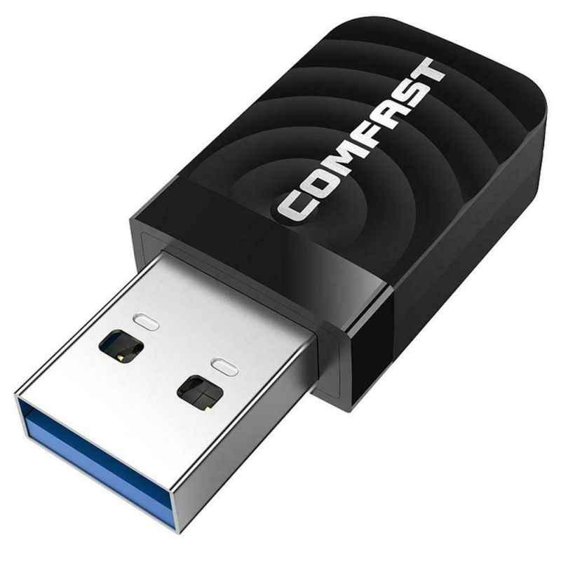 Nowy 2.4G/5G podwójna częstotliwość 1300M Gigabit USB Mini przenośny nieograniczony odbiornik CF-812AC adapter USB wifi dla Mac PC Laptop