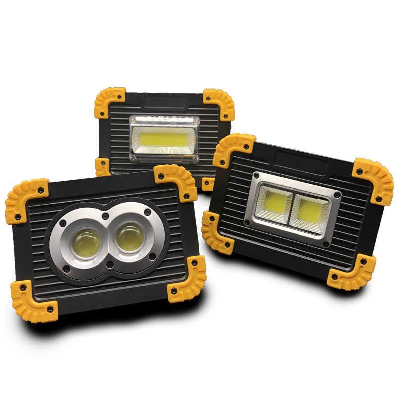 5 قطعة 20 واط COB LED الكاشف مصباح العمل القابل لإعادة الشحن مصباح طوارئ الشعلة التخييم خيمة فانوس USB شحن المحمولة الكشاف
