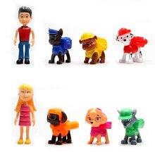 6/8 шт./лот Paw Patrol Canina аниме игрушки Щенячий патруль фигурка игрушка экшн-фигурка Juguete модель детские подарки игрушки 6-10 см 35D