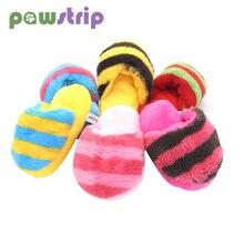 1pc Pet Dog Toys Squeak Plush Toys for Dogs Slipper Shape Dog Chew Toy Soft Plush Puppy