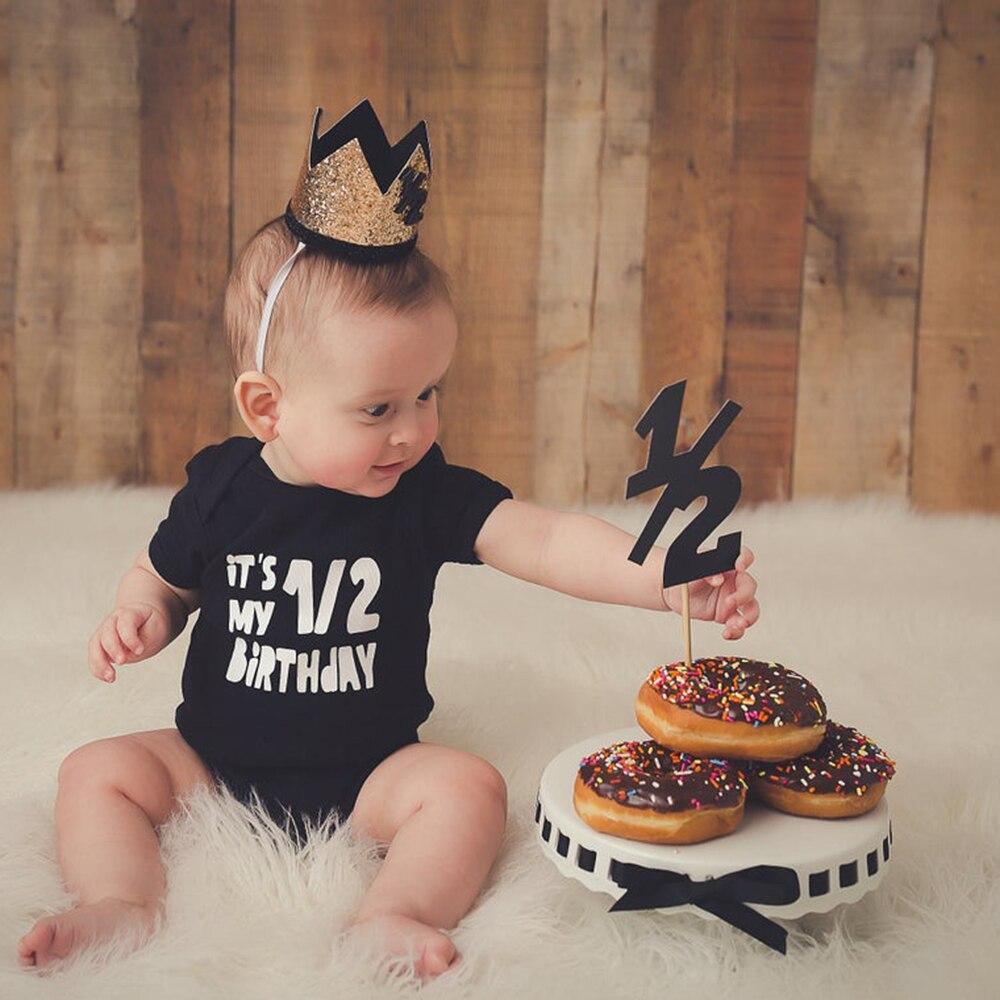 One half birthday bodysuit Half brithday shirt 1/2 Half Birthday one-piece Boy half birthday outfits Gender Neutral Baby Gift
