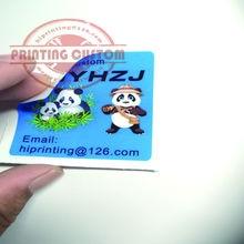 2x2 дюйма белая виниловая наклейка печать на заказ/kiss cut sticker