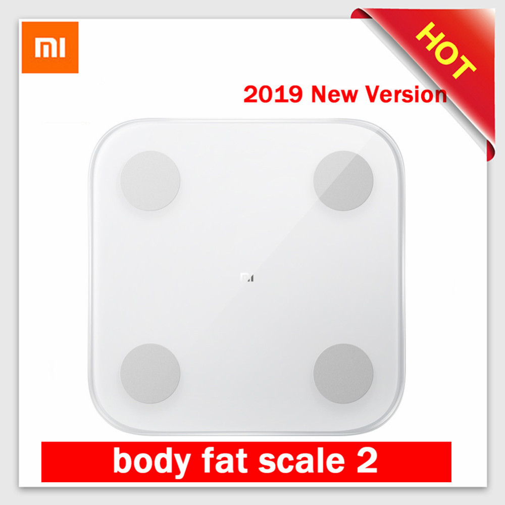 2019 Xiaomi Mi Scale 2 Smart Body Fat Scale Weight Scale 2 Bluetooth 5.0 APP Monitor LED Display Digital Body Composition Scale