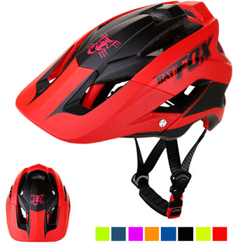 BATFOX Men Bicycle Helmet Casco Ciclismo Integrally-molded Bike Helmet Ultralight Road Mountain MTB Helmet 56-62 cm c01 02 ultra light road bike pneumatic helmet mountain mtb helmet the overall molded bicycle helmet bicycle riding equipmen